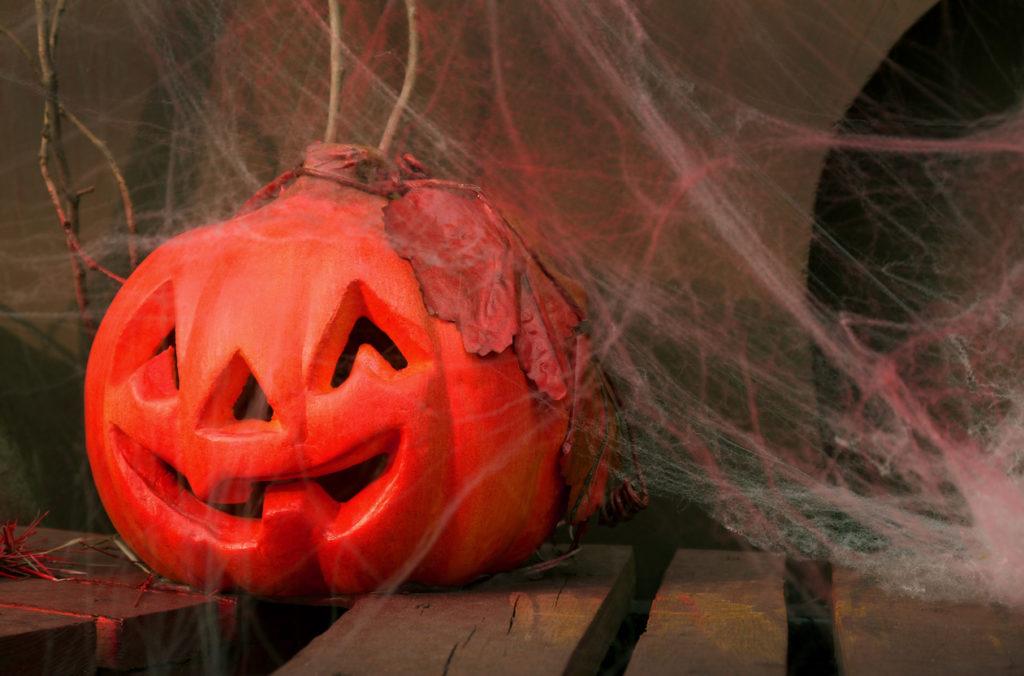 Pumpkin Halloween carved by Plastic Foam